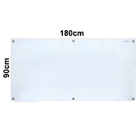 Magnetic Tempered Glass Whiteboard 磁性玻璃白板 (180x90cm)