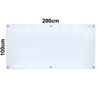 Magnetic Tempered Glass Whiteboard 磁性強化玻璃白板 100x200cm
