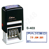Shiny S403 自動上墨印章 (FAXED+DATE+BY)